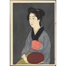Hashiguchi Goyo: Waitress with a Tray (Nao, of a Kyoto Inn) - 紅ふで(京の宿 おなを) - Ohmi Gallery