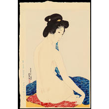 Hashiguchi Goyo: Woman after a Bath (Delicate Skin) - 化粧の女 (やわはだ) - Ohmi Gallery