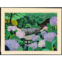 Hayashi, Waichi: Summer Hydrangea - 夏・紫陽花 - Ohmi Gallery