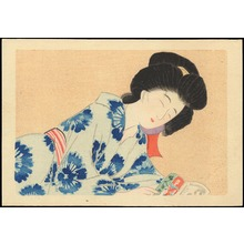 Hirezaki, Eiho: Bijin Reading (1) - Ohmi Gallery