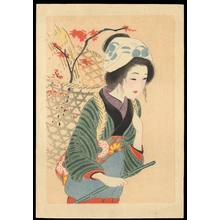 Hirezaki, Eiho: Bijin in Autumn (1) - Ohmi Gallery