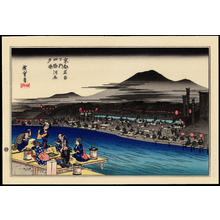 Utagawa Hiroshige: Evening Cool at Shijo Kawara - 四条河原夕涼 - Ohmi Gallery