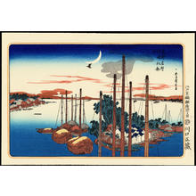 Utagawa Hiroshige: First Cuckoo Of The Year At Tsukudajima - 佃島初郭公 - Ohmi Gallery
