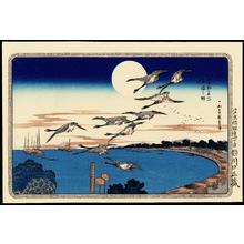 Utagawa Hiroshige: Full Moon Over Takanawa - 高輪の明月 - Ohmi Gallery