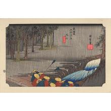 歌川広重: Tsuchiyama - 土山 - Ohmi Gallery