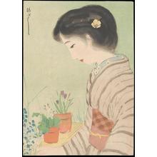 Morita Hisashi: Bijin Viewing Flowers (1) - Ohmi Gallery