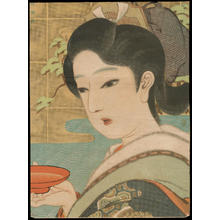 Igawa Sengai: Bijin Waitress (1) - Ohmi Gallery