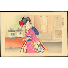 Ikeda, Terukata: A Young Woman Shopping - 江戸之錦 (1) - Ohmi Gallery