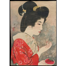 Ito Shinsui: Applying Lipstick (1) - Ohmi Gallery