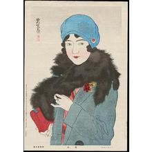 伊東深水: Beauty From the Showa Era - Early Spring - 昭和美人風景 浅春 - Ohmi Gallery