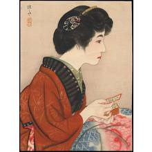 Ito Shinsui: Bijin Playing Karuta (1) - Ohmi Gallery