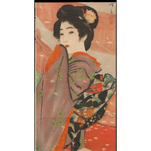 Ito Shinsui: Bijin with Flower Ornament (1) - Ohmi Gallery