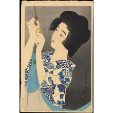 Ito Shinsui: Hanging a Mosquito Net (1) - Ohmi Gallery