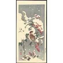 Jo 1930s): Sparrow In Snow - Ohmi Gallery