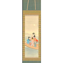 鏑木清方: Bijin on a Pleasure Boat (1) - Ohmi Gallery