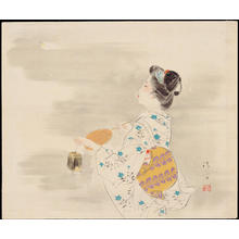Kaburagi Kiyokata: Summer Beauty with an Insect Cage - Ohmi Gallery