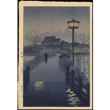 笠松紫浪: Evening Rain, Shinobazu Pond - Ohmi Gallery