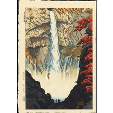 笠松紫浪: Kegon Waterfall At Nikko - Ohmi Gallery