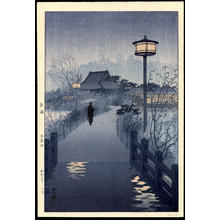 笠松紫浪: Evening Rain, Shinobazu Pond - Ohmi Gallery