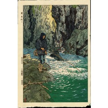 笠松紫浪: Fishing For Char - Ohmi Gallery