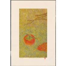 Katsuda, Yukio: No 206 - Autumn Day Persimmon - 秋の日の柿 - Ohmi Gallery