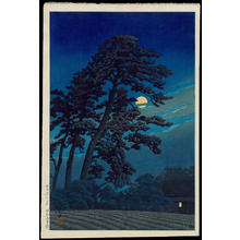 川瀬巴水: Moon At Magome - 馬込の月 - Ohmi Gallery