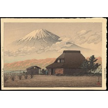 川瀬巴水: Mount Fuji from Narusawa - 鳴澤の富士 - Ohmi Gallery