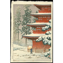 川瀬巴水: Saishoin Temple in Snow, Hirosaki - Ohmi Gallery