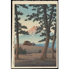 川瀬巴水: Dusk At Taganoura Beach - Ohmi Gallery