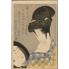 Kitagawa Utamaro: Powdering the Neck - えり装い - Ohmi Gallery