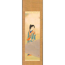 Asai Kiyoshi: Bijin Under Cherry Tree (1) - Ohmi Gallery