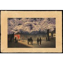 Kobayashi Kiyochika: Cherry blossom at Night (1) - Ohmi Gallery