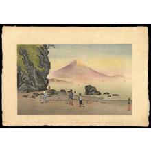 小林清親: Fuji in the Morning - 朝の富士 (1) - Ohmi Gallery