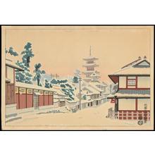 Kotozuka Eiichi: Gion Yasaka Torii-mae - 祇園八坂鳥居前 - Ohmi Gallery