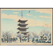 Kotozuka Eiichi: Toji Tempe Five-Storey Pagoda - 東寺五重塔 - Ohmi Gallery