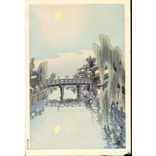 Kotozuka Eiichi: Moon Over Benten Bridge - Ohmi Gallery