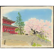 Kotozuka Eiichi: The Sambutsudo Temple in Spring - Ohmi Gallery
