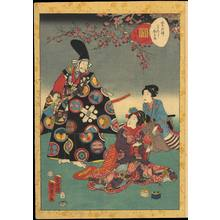 歌川国貞: Chapter 31- The Cypress Pillar - Ohmi Gallery
