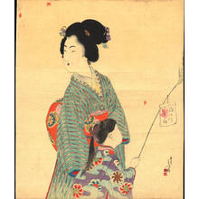 Mishima Shoso: Mother and Child in Autumn (1) - Ohmi Gallery