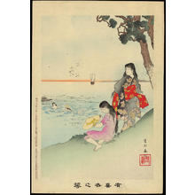 宮川春汀: Sea Bathing - 海水浴 - Ohmi Gallery