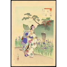 Mizuno Toshikata: Iris Garden - 菖蒲 - Ohmi Gallery