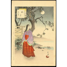 Mizuno Toshikata: Moon Viewing - 眺月 - Ohmi Gallery