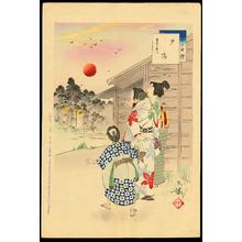 Mizuno Toshikata: Sunset - Lady in Keian era, 1648-1651 - 夕場 - Ohmi Gallery