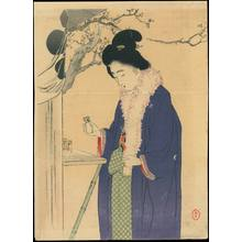 Mizuno Toshikata: Bijin Visiting a Temple in the New Year (1) - Ohmi Gallery