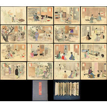 Mizuno Toshikata: Full album set of Daily Practise of the Tea Ceremony - Ohmi Gallery