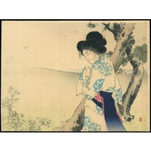 Mizuno Toshikata: The Mad Woman of Hachiman - 八幡の狂女 (1) - Ohmi Gallery