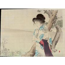Mizuno Toshikata: The Mad Woman of Hachiman - 八幡の狂女 - Ohmi Gallery
