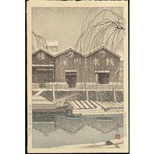 Masamoto, Mori: Spring Snow in Kiba - Ohmi Gallery