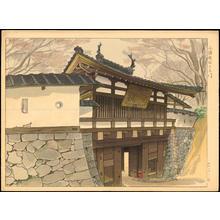Masamoto, Mori: The Third Gate of the Ruins of Kumoro Castle - 追分浅間小諸城址三之門 - Ohmi Gallery