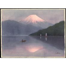 Niimi S: Mt Fuji and Sailboats on Lake (1) - Ohmi Gallery